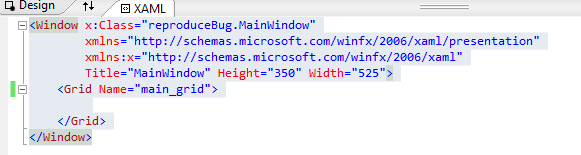 Copy of code from XAML file